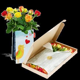 """Flower Mail with vase """"Love Bird"""""""