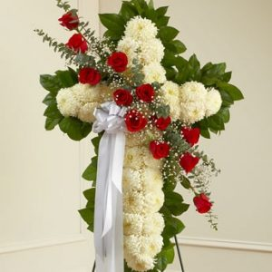 Funeral Flower Cross