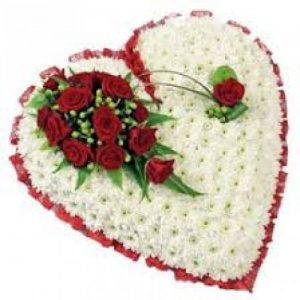 Funeral flower heart